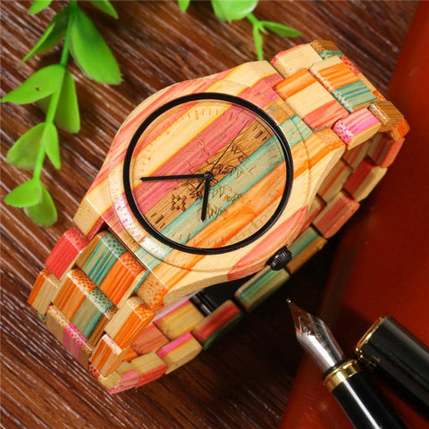 Full Bamboo Watch Men Luxury Brand BEWELL New Natural Quartz Wooden Bamboo Watch Male Clock Wood Watch With Bamboo Band