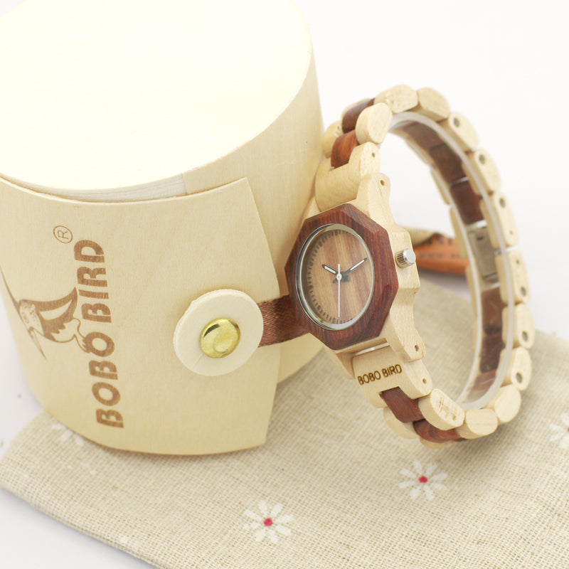 2017 New Brand BOBO BIRD Women Watches Octagon Wooden Watch Ladies Bracelet Wristwatch relogio feminino B-M26