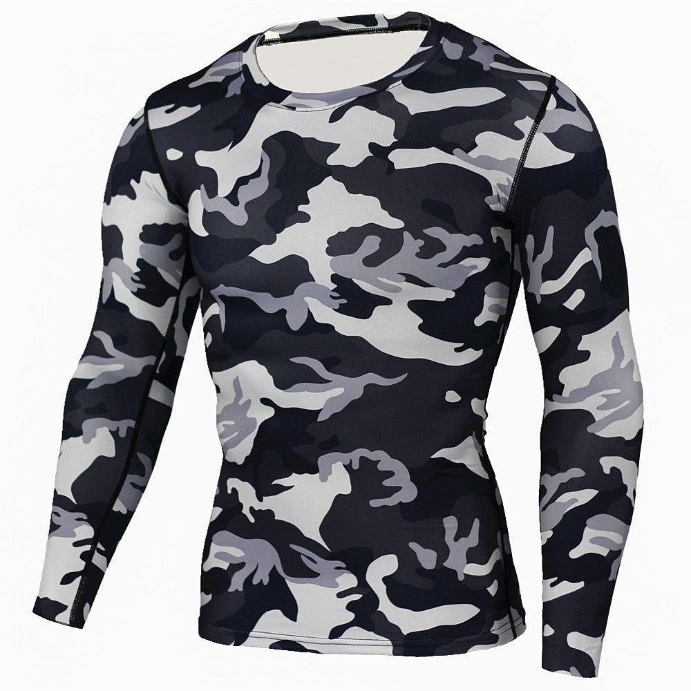 New Camouflage Military T Shirt Bodybuilding Tights Fitness Men Quick Dry Camo Long Sleeve T Shirts Crossfit Compression Shirt