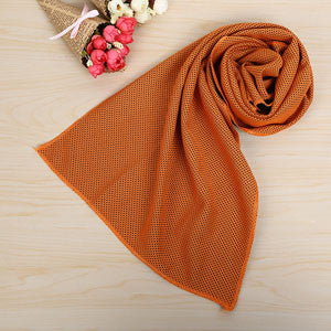 New Double layers Ice Towel 10 Colors Utility Enduring Instant Cooling Towel Heat Relief Reusable Chill Cool Towel