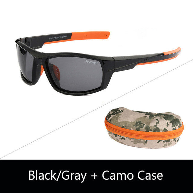JIANGTUN Hot Trendy Camo Black Polarized Sunglasses Men Women Brand Designer Sports Sun Glasses UV400 Driving Gafas