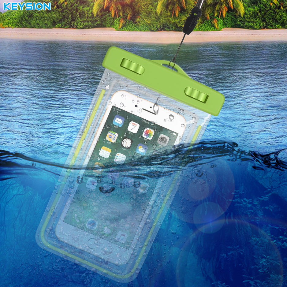 KEYSION Waterproof Bag With Luminous Underwater Pouch Phone Case For iPhone 7 7 Plus 6 6s  For Samsung Galaxy S8 S7 S7 Edge S6