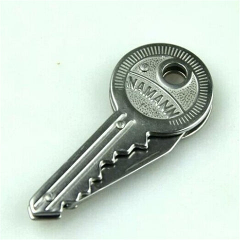 New 1Piece Mini Key Knife Fold Key Pocket Knife Key Chain Knife Peeler Portable Camping Key Ring Knife Tool