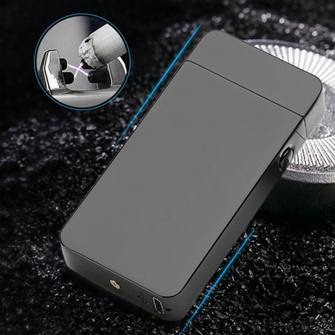 USB Electric Dual Arc Rechargeable Windproof Lighter