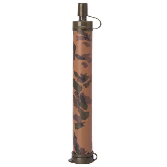 Emergency Portable Filter Water Purifier Life Straw  in Camouflage