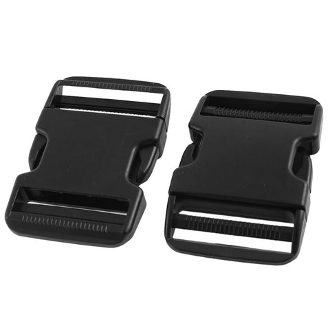 2x Plastic Pack Bag Spare Part Side Quick Release Buckles Clasp Black