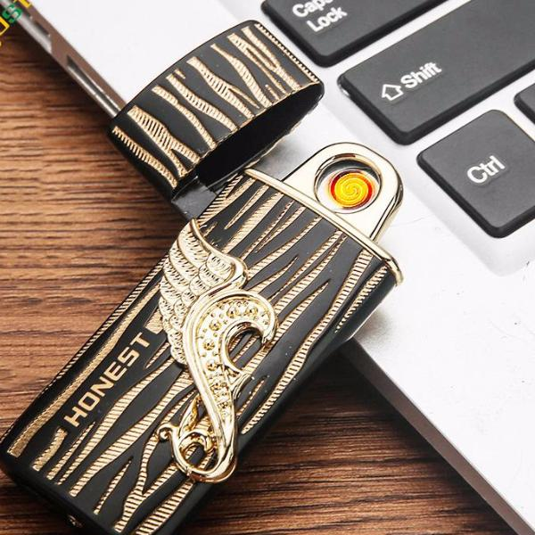 USB electronic recharging double face lighter