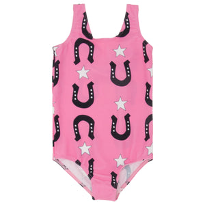 Stars and unicorns swimsuit pink