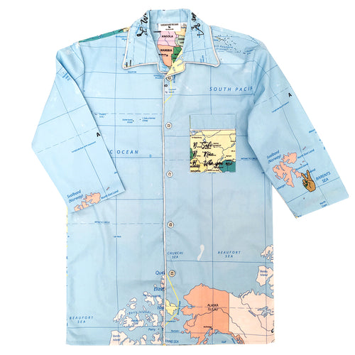 World domination long shirt map