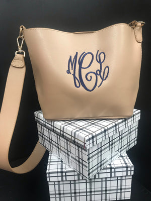 The Belle (Small Monogram Bucket Bag)