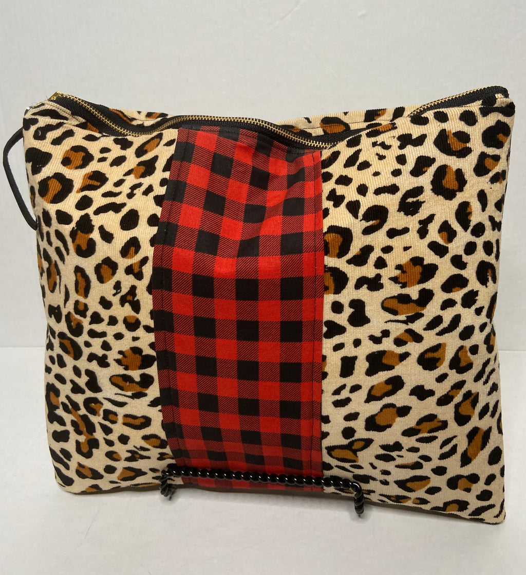 Buffalo Plaid and Mix Leopard Print