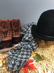 Brown Monogram Duck Boots