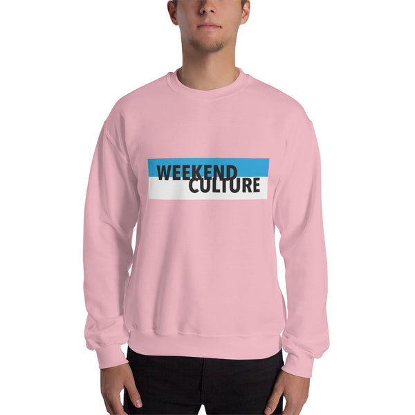 "Mens Cotton ""Weekend Culture"" Sweatshirt Fulfilled by Printful"