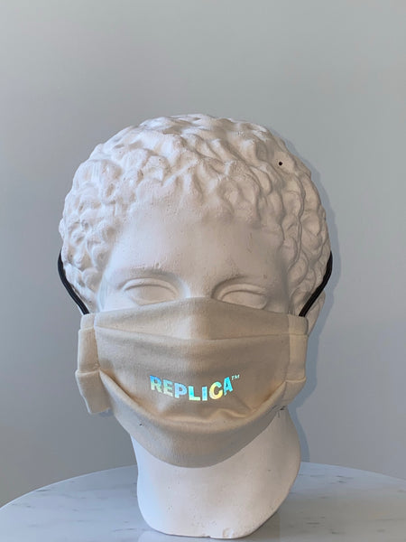 Off White Reflective Logo Mask