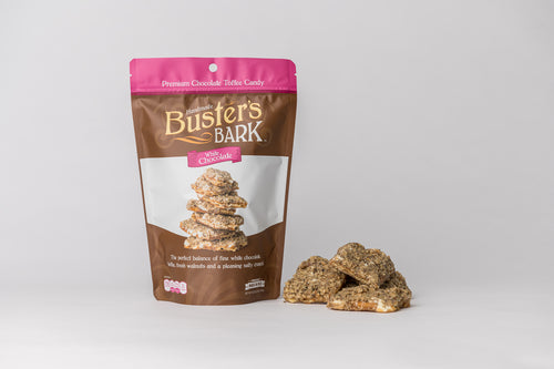 Buster's Bark - White Chocolate Handmade Premium Chocolate Toffee Candy