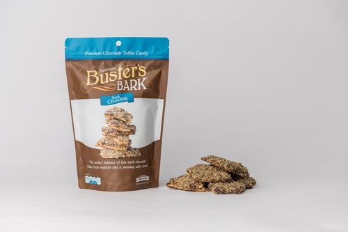 Buster's Bark - Dark Chocolate Handmade Premium Chocolate Toffee Candy