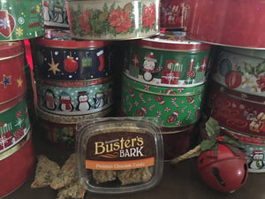 Buster's Bark - 1lb Holiday Tin - Buster's Bark