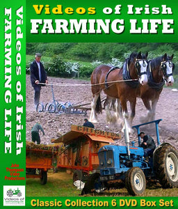 Box Set of Six Classic DVDs from Irish Farming Videos by John Thompson Video Productions