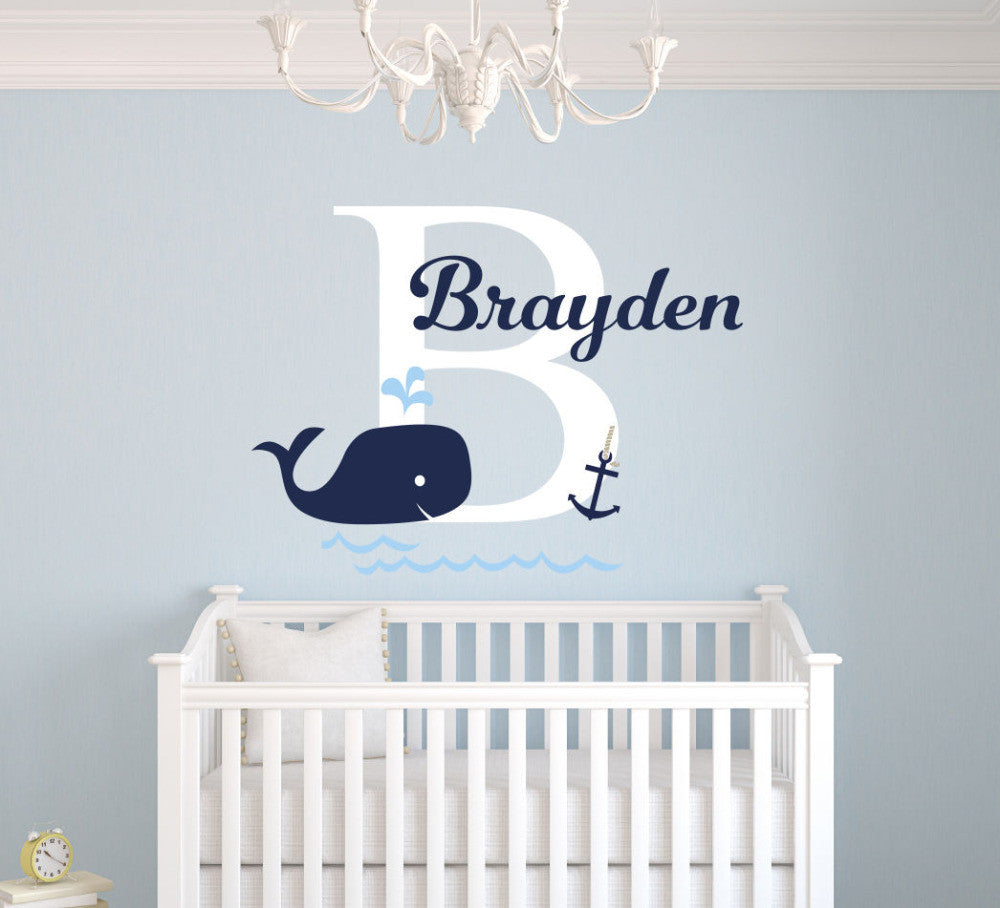 Custom name animal wall decal with large letter initial the custom name animal wall decal with large letter initial amipublicfo Gallery