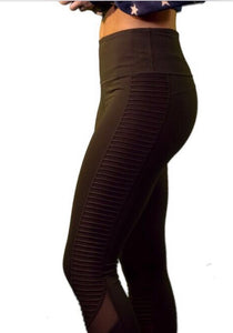 #3005 High Waist Moto Inspired Leggings