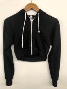 Crop Fleece Zip Hoody