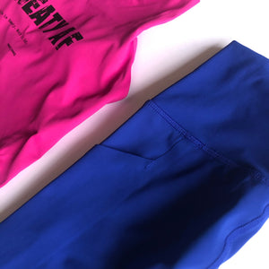 Cobalt Light + Tight Performance Side Pocket Legging