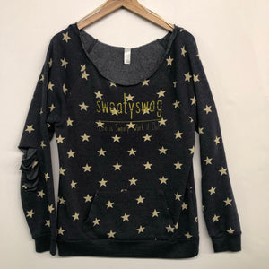 Off Shoulder Star Fleece