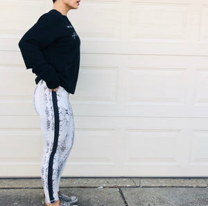 White Snake Performance Leggings