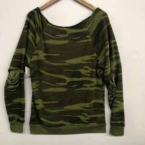 Deconstructed Camo Fleece