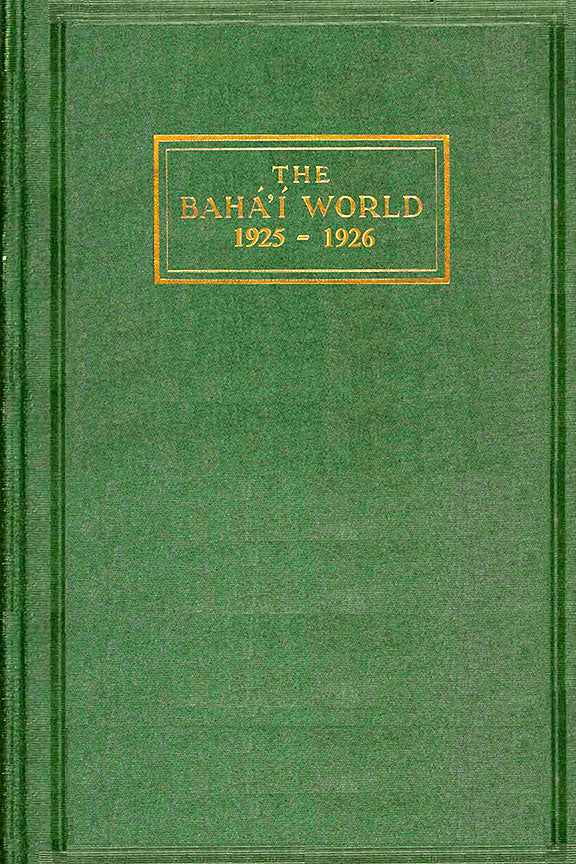 Bahá'í World 1925 - 1926