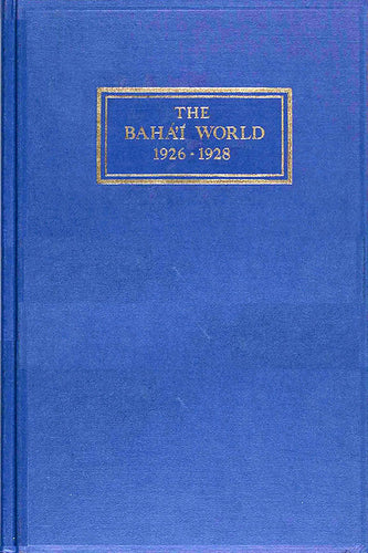 Bahá'í World 1926 - 1928