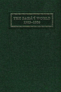 Bahá'í World 1983 - 1986
