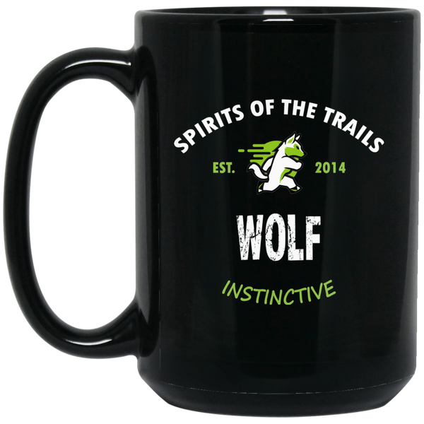Wolf - Medallion15 oz. Black Mug