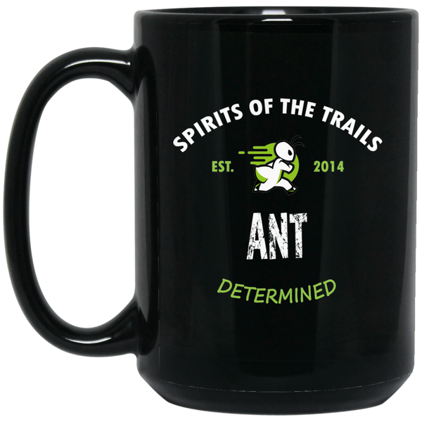Ant - Medallion15 oz. Black Mug - Ultrakoala Trial, Hiking, Biking and Camping Gear