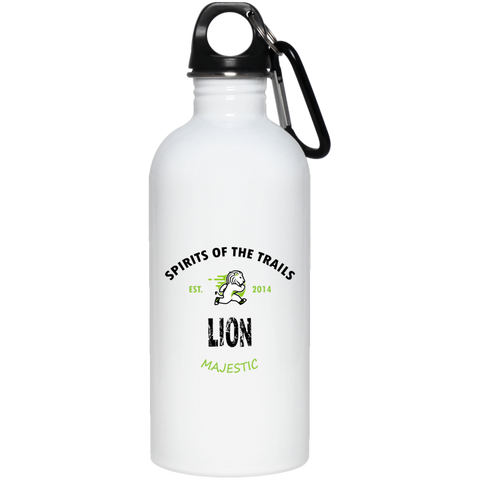 Lion - Est. 2014 20 oz. Stainless Steel Water Bottle - Ultrakoala Trial, Hiking, Biking and Camping Gear