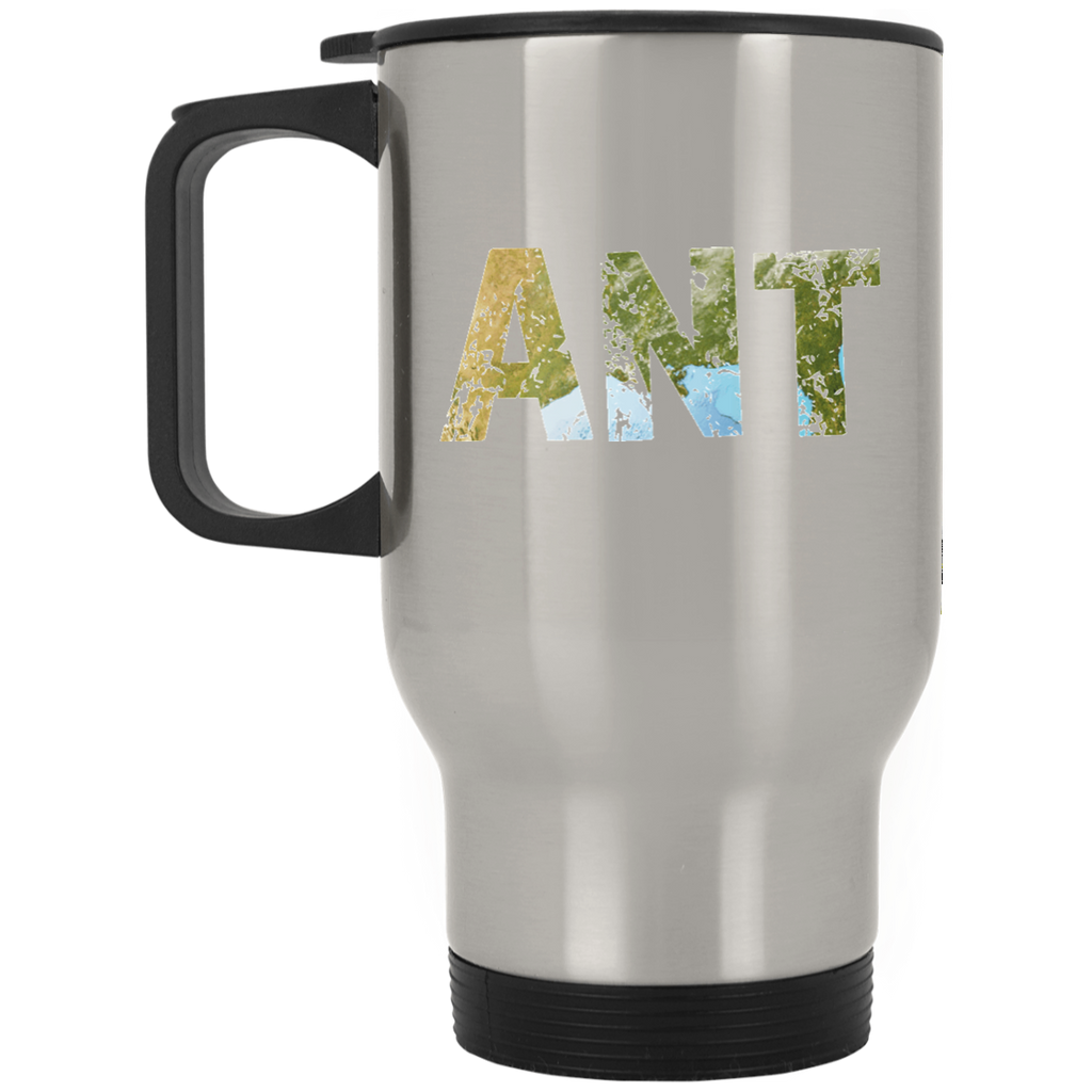 Ant - Silver Stainless 14oz Travel Mug - Ultrakoala Trial, Hiking, Biking and Camping Gear