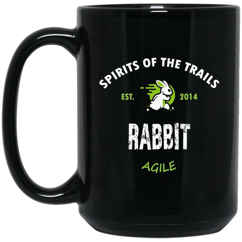 Rabbit - Medallion15 oz. Black Mug