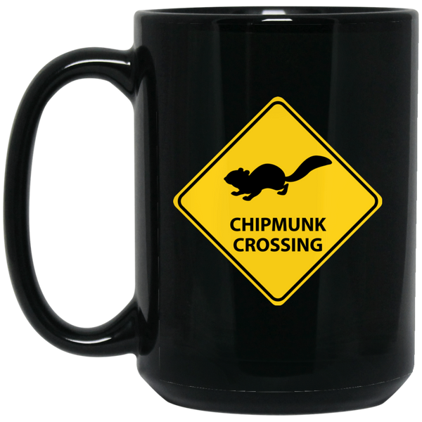 Chipmunk Crossing 15 oz. Black Mug - Ultrakoala Trial, Hiking, Biking and Camping Gear