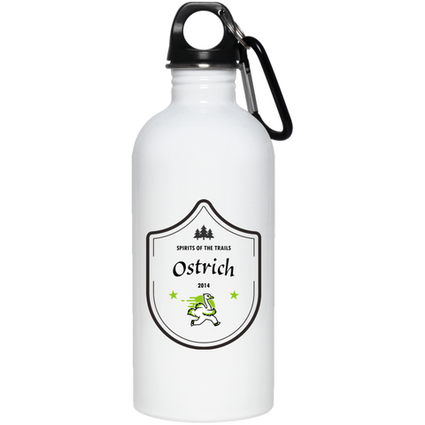 Ostrich Medallion - 20 oz. Stainless Steel Water Bottle - Ultrakoala Trial, Hiking, Biking and Camping Gear