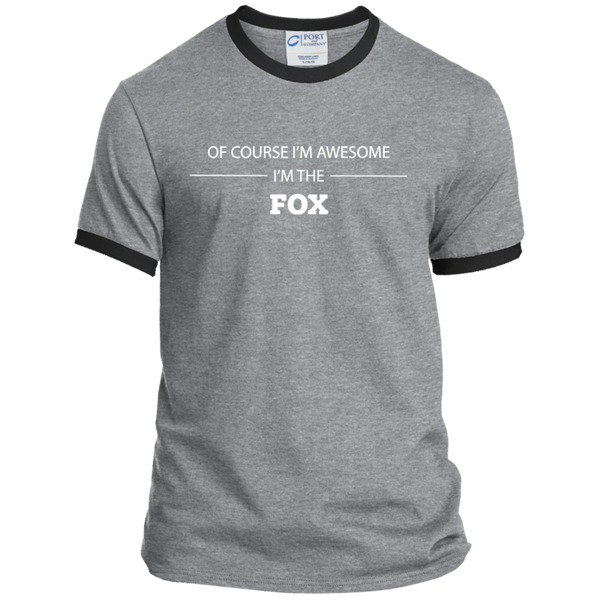 Awesome Fox - Men's Ringer Tee - Ultrakoala Trial, Hiking, Biking and Camping Gear