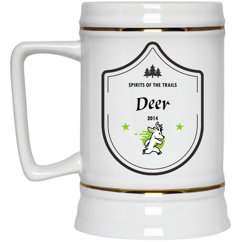Deer - Medallion Beer Stein 22oz. - Ultrakoala Trial, Hiking, Biking and Camping Gear
