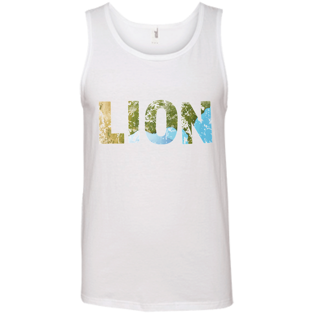 Lion - Men's 100% Ringspun Cotton Tank Top - Ultrakoala Trial, Hiking, Biking and Camping Gear