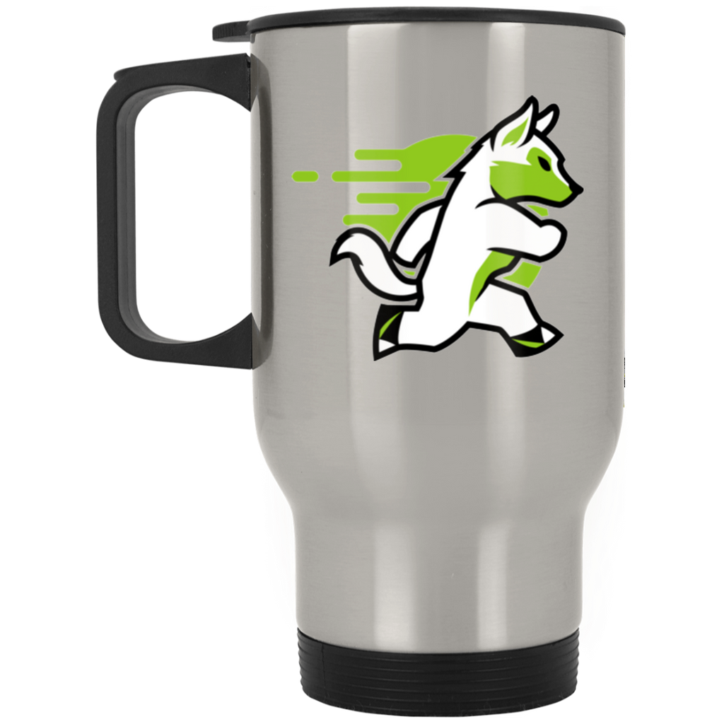 Wolf - Silver Stainless 14oz Travel Mug
