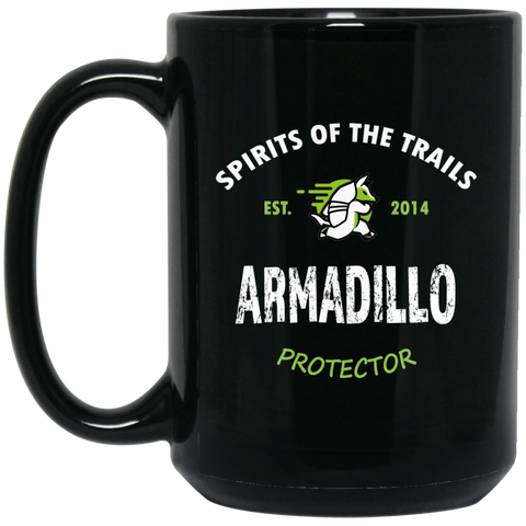 Armadillo - Medallion15 oz. Black Mug - Ultrakoala Trial, Hiking, Biking and Camping Gear