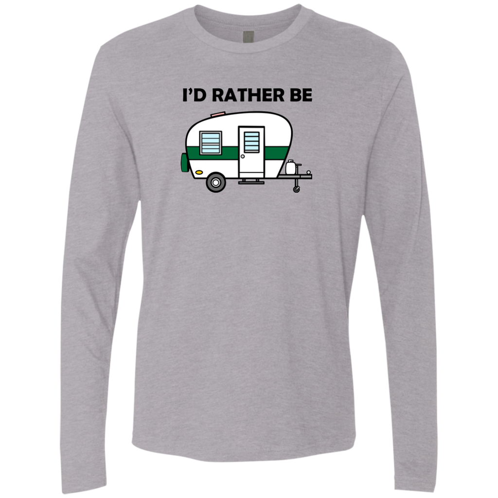 I'd Rather Be Camping - Men's Premium LS - Ultrakoala Trial, Hiking, Biking and Camping Gear