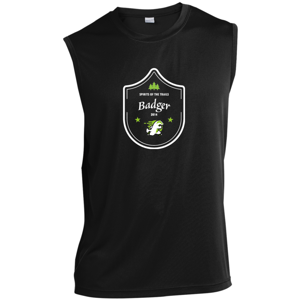 Badger  - Medallion Moisture Wicking Men's Sleeveless Performance T-Shirt - Ultrakoala Trial, Hiking, Biking and Camping Gear
