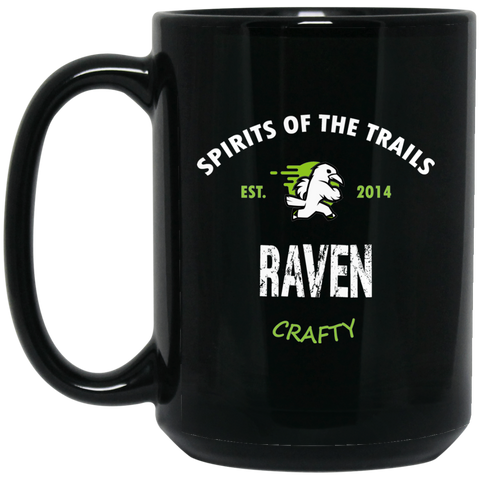 Raven - Medallion15 oz. Black Mug