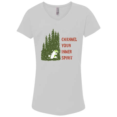 Badger - Channel Your Inner Spirit Girls' Princess V-Neck T-Shirt - Ultrakoala Trial, Hiking, Biking and Camping Gear