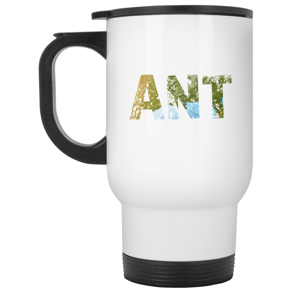 Ant - White 14oz Travel Mug - Ultrakoala Trial, Hiking, Biking and Camping Gear