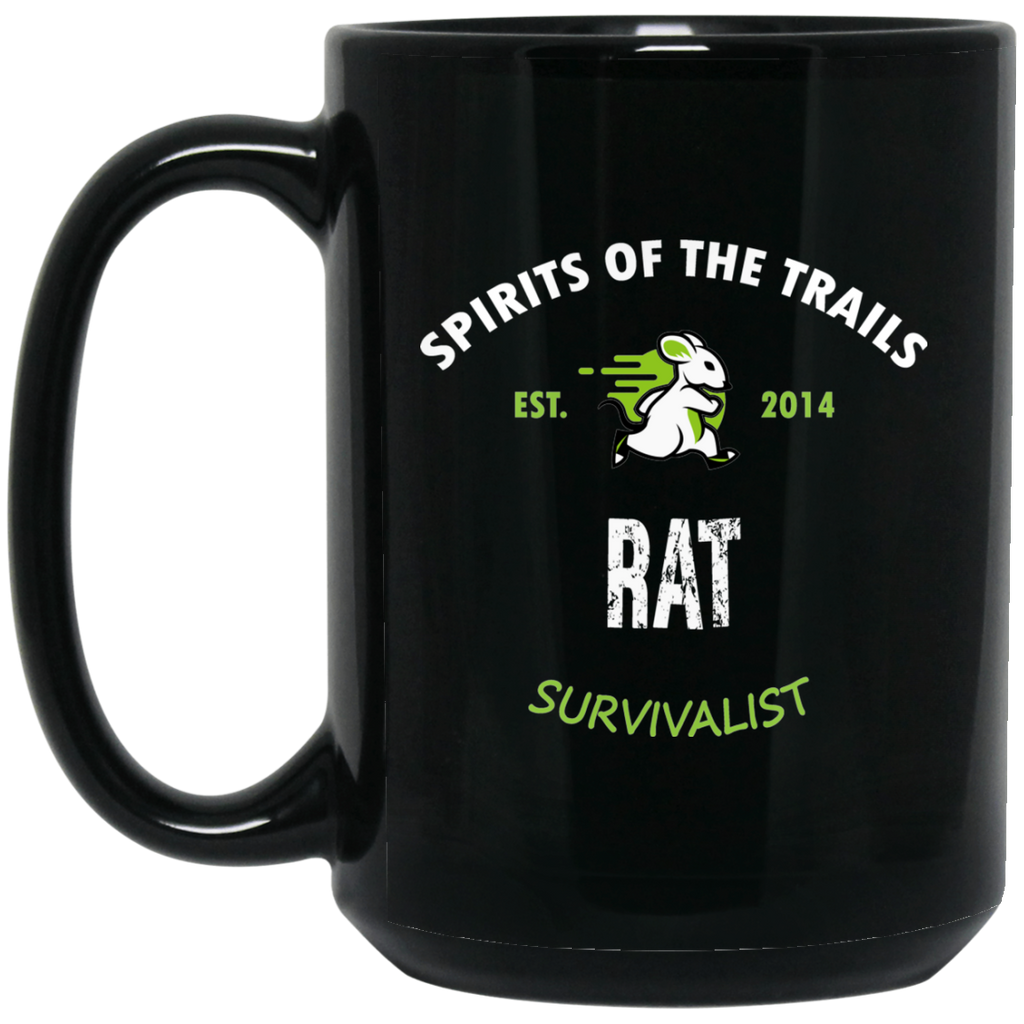 Rat - Medallion15 oz. Black Mug